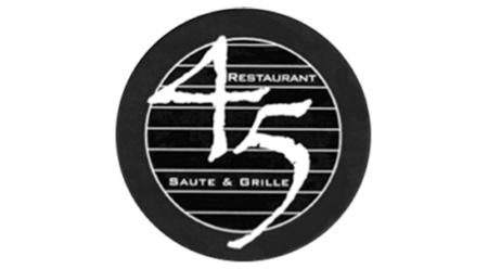 45 Restaurant Logo